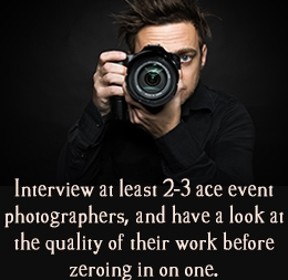 How to Hire a Photographer for Your Event